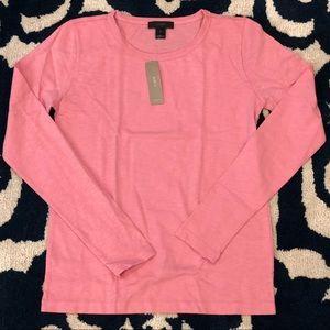 J.Crew Long-Sleeve Crewneck Slub Cotton T-Shirt